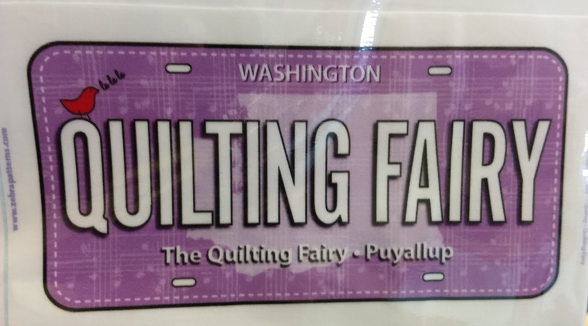 2018 Quilting Fairy License Plate