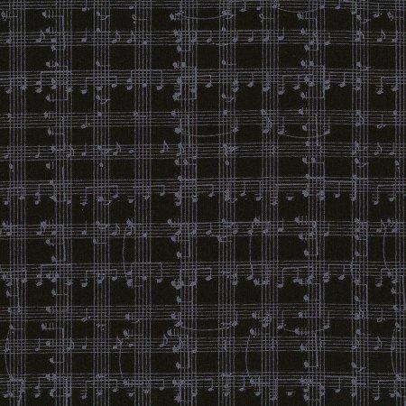 2018 Row x Row Music Notes Grid Black