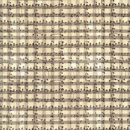 2018 Row x Row Music Notes Grid Cream
