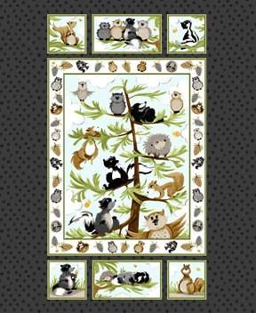 Woodland Friends - Panel