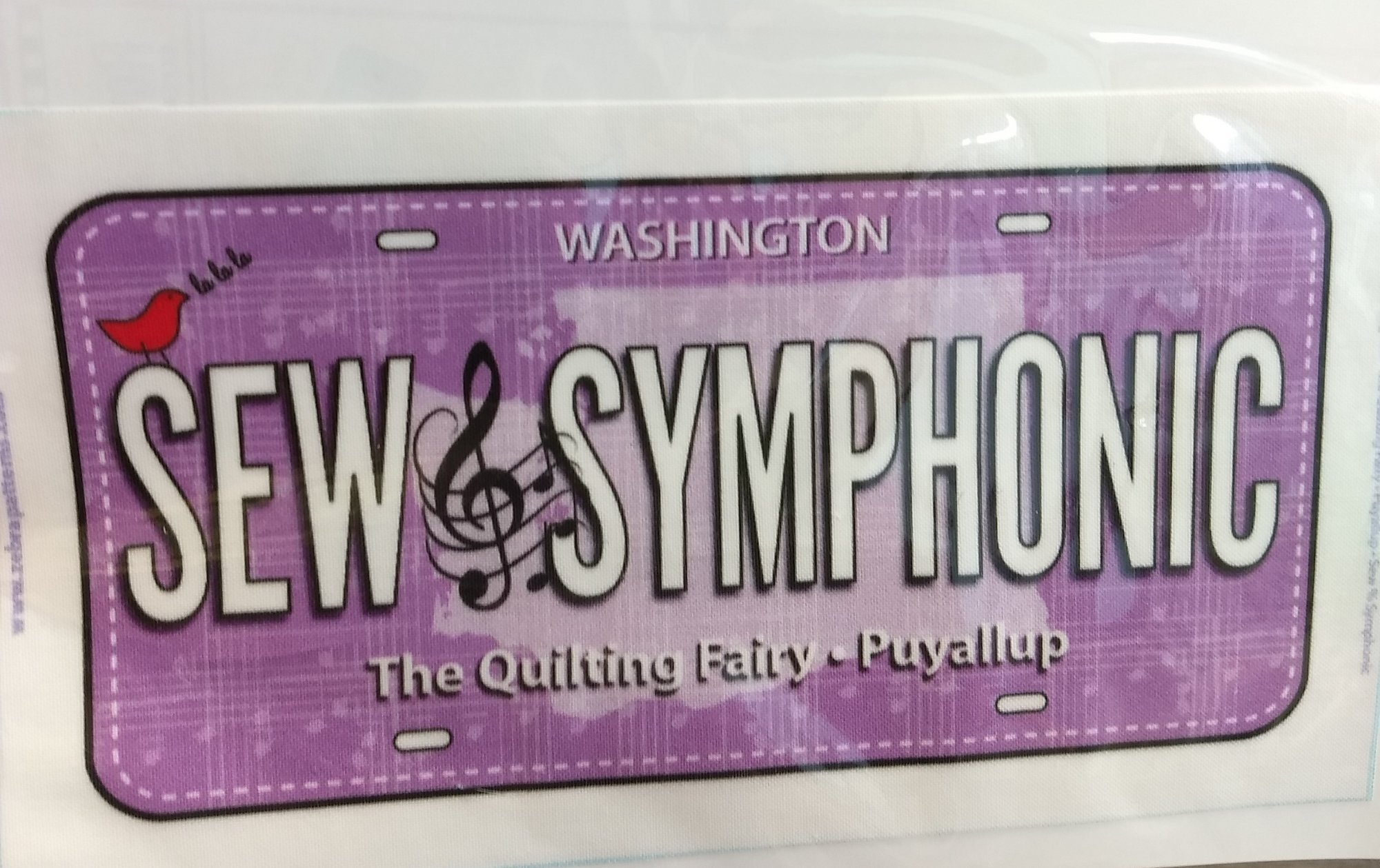 2018 Sew Symphonic License Plate