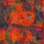 Batik 5129B - Burnt Orange Splash
