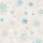 Winter Wonderland Flannel - Blue Snowflakes on White