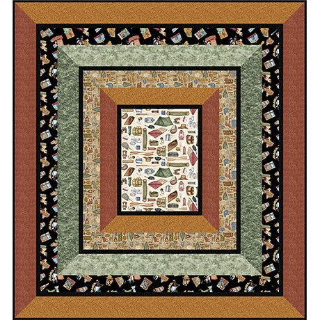 Backcountry Quilt Kit  68 1/2 x 74 1/2