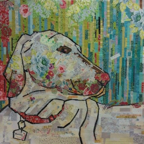 Best Friend Painterly Collage Pattern
