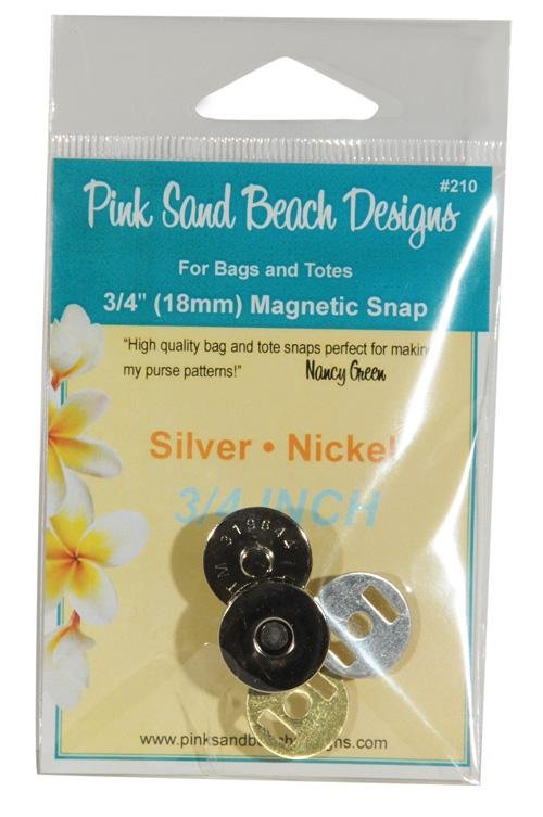 Magnetic Snap 3/4 Silver  PSB210