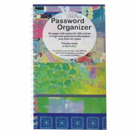 Password Organizer Blue