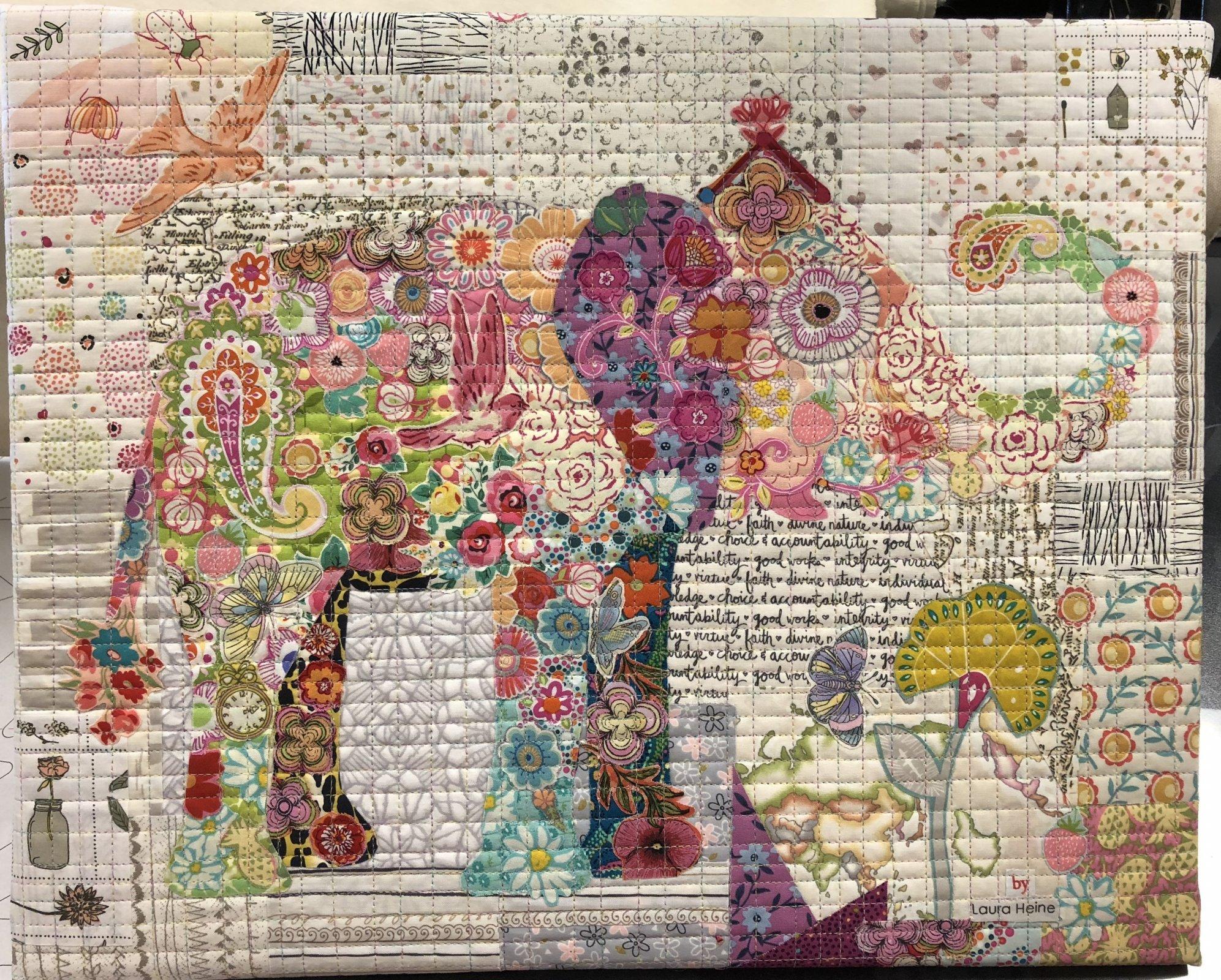 LH Teeny Tiny Elephant Fabric Kit