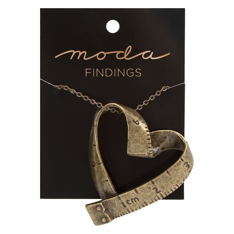 Necklace Tape Measure Heart #MJ306