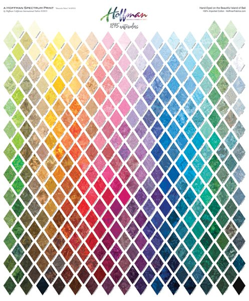 Hoffman Sprectrum Print Color Card Panel #1895-130