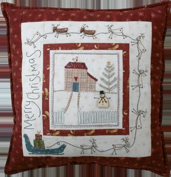 Christmas Eve Pillow Pattern w/ Buttons by Lynette Anderson
