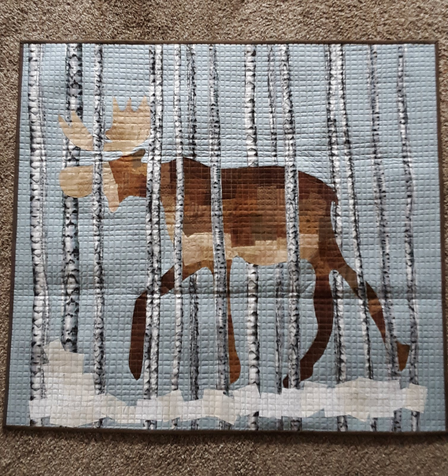 Maddox Moose Collage Fabric Kit