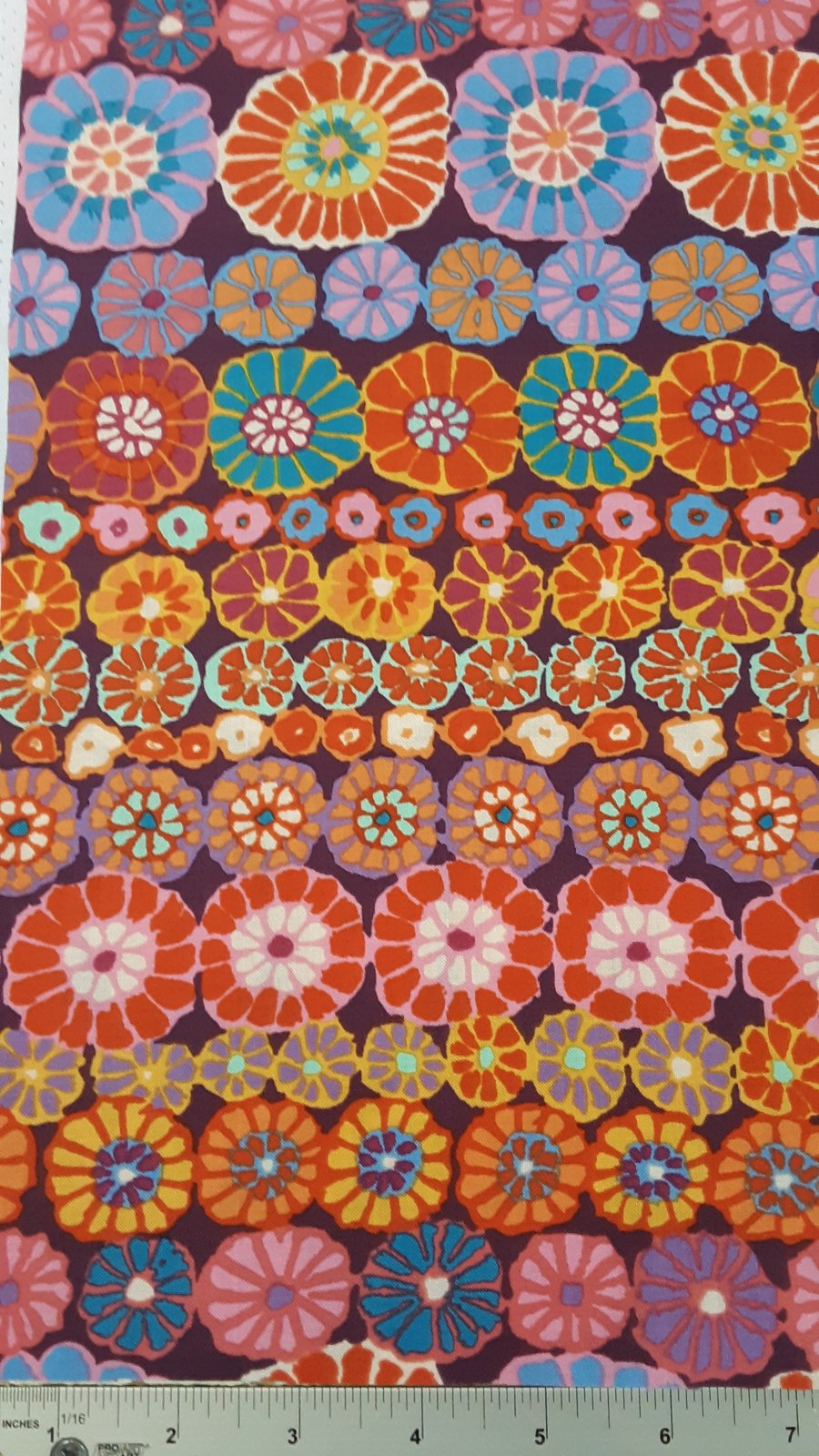 Kaffe Fassett Row Flowers Red #PWGP169