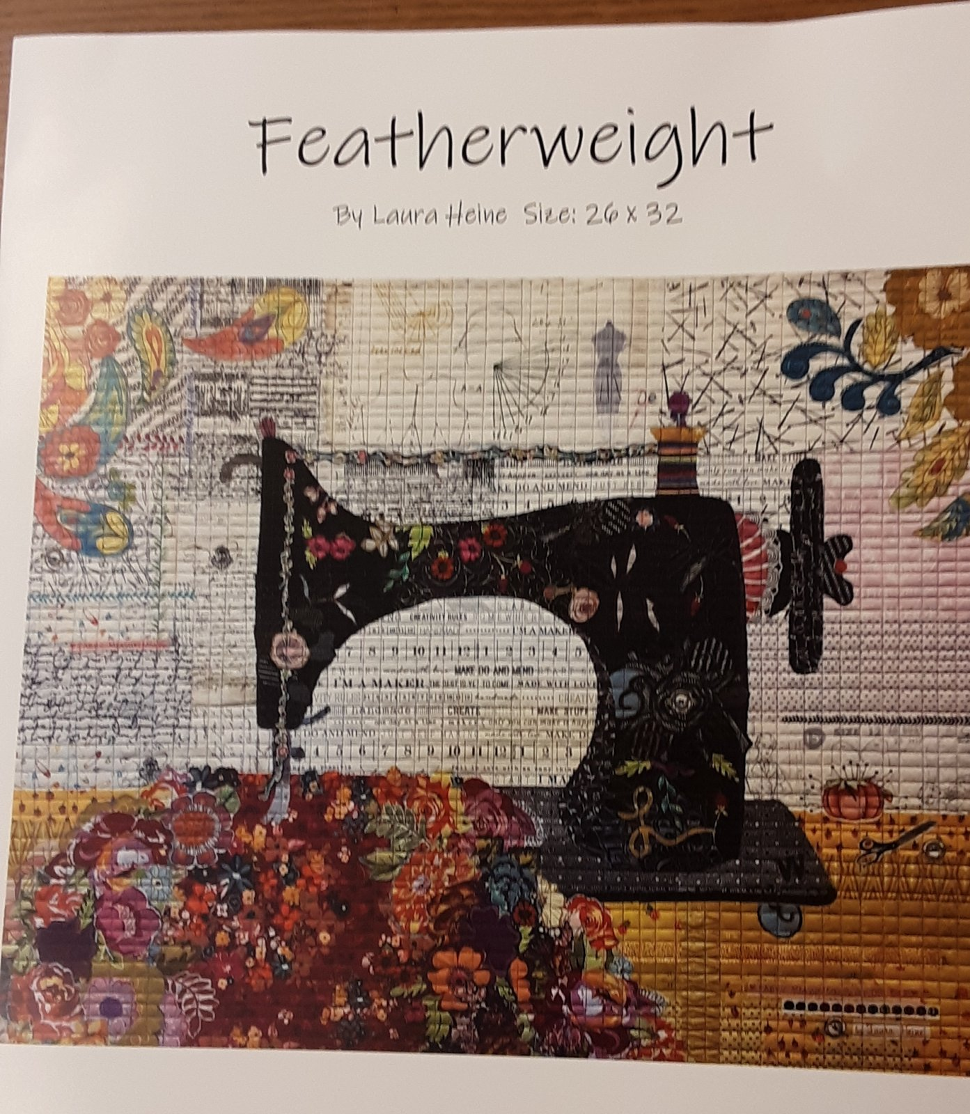 Featherweight Collage Pattern by Laura Heine