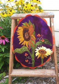 A Season for Sunflowers Table Mat Wool Kit