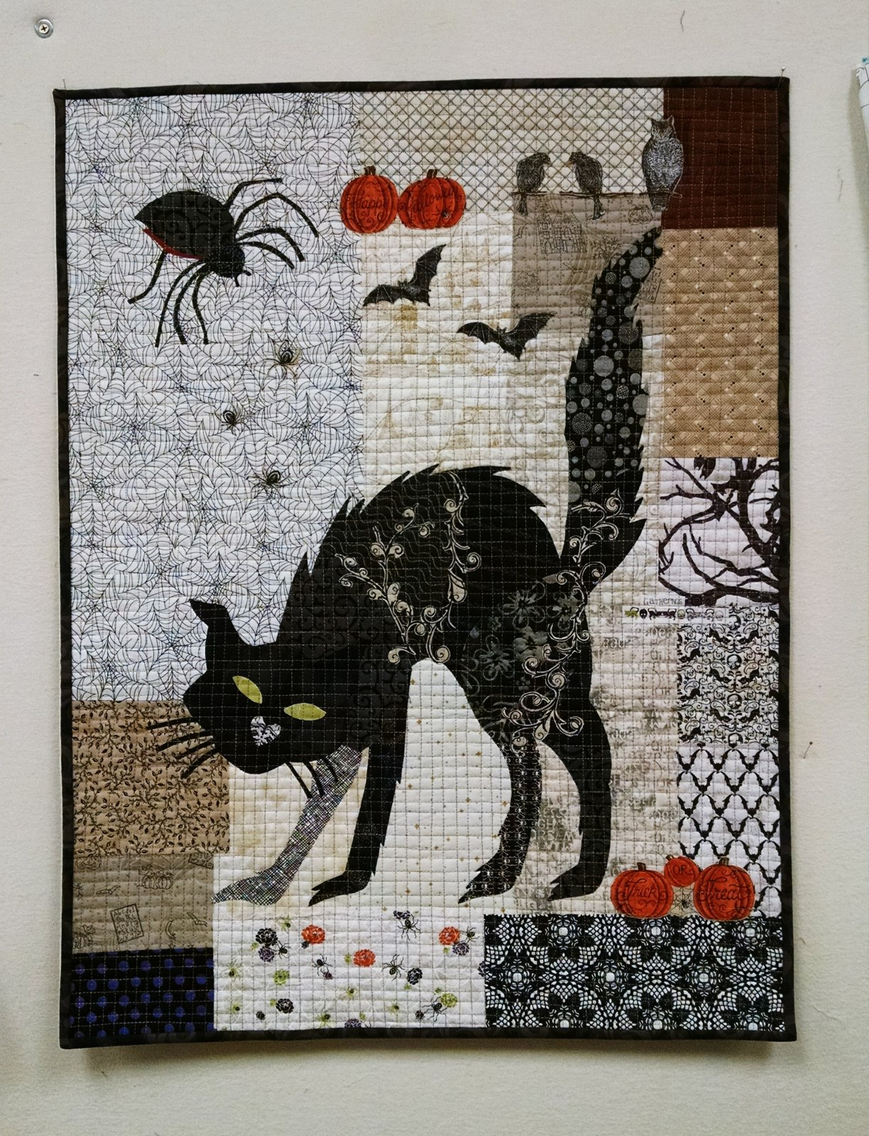 Black Cat Collage Fabric Kit