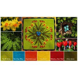 Burst of Spring Table Mat Wool Kit