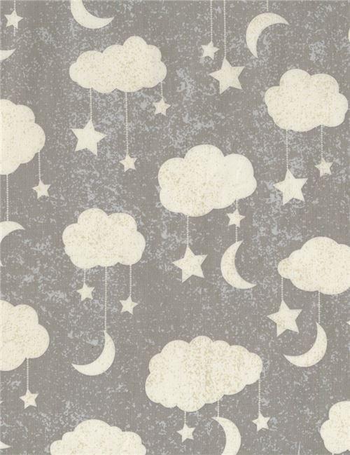 Timeless Treasures Cloud Mobile Grey #C5528