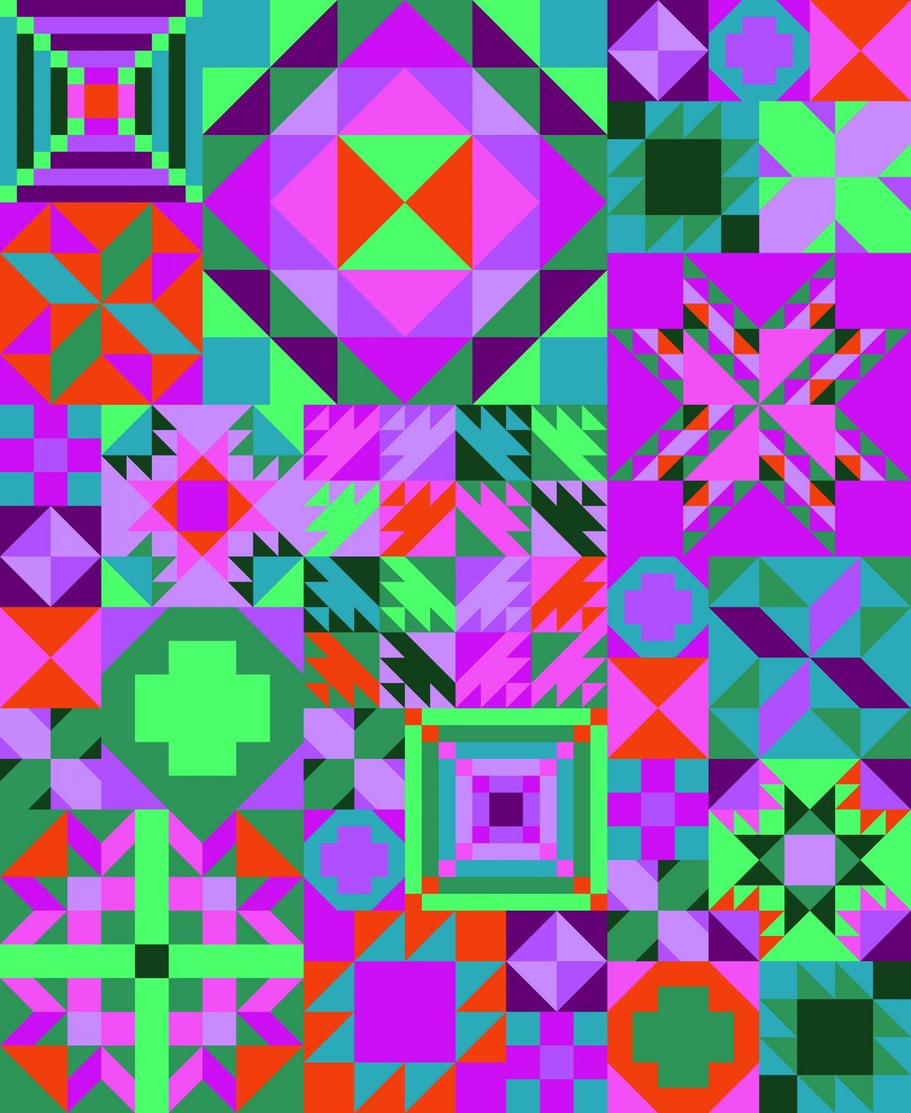 My Favorite Color is Moda Quilt Kit  - Tropical Getaway
