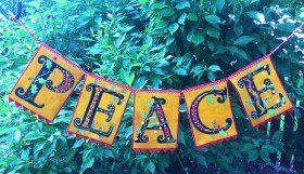 Peaceful Season Banner Wool Kit
