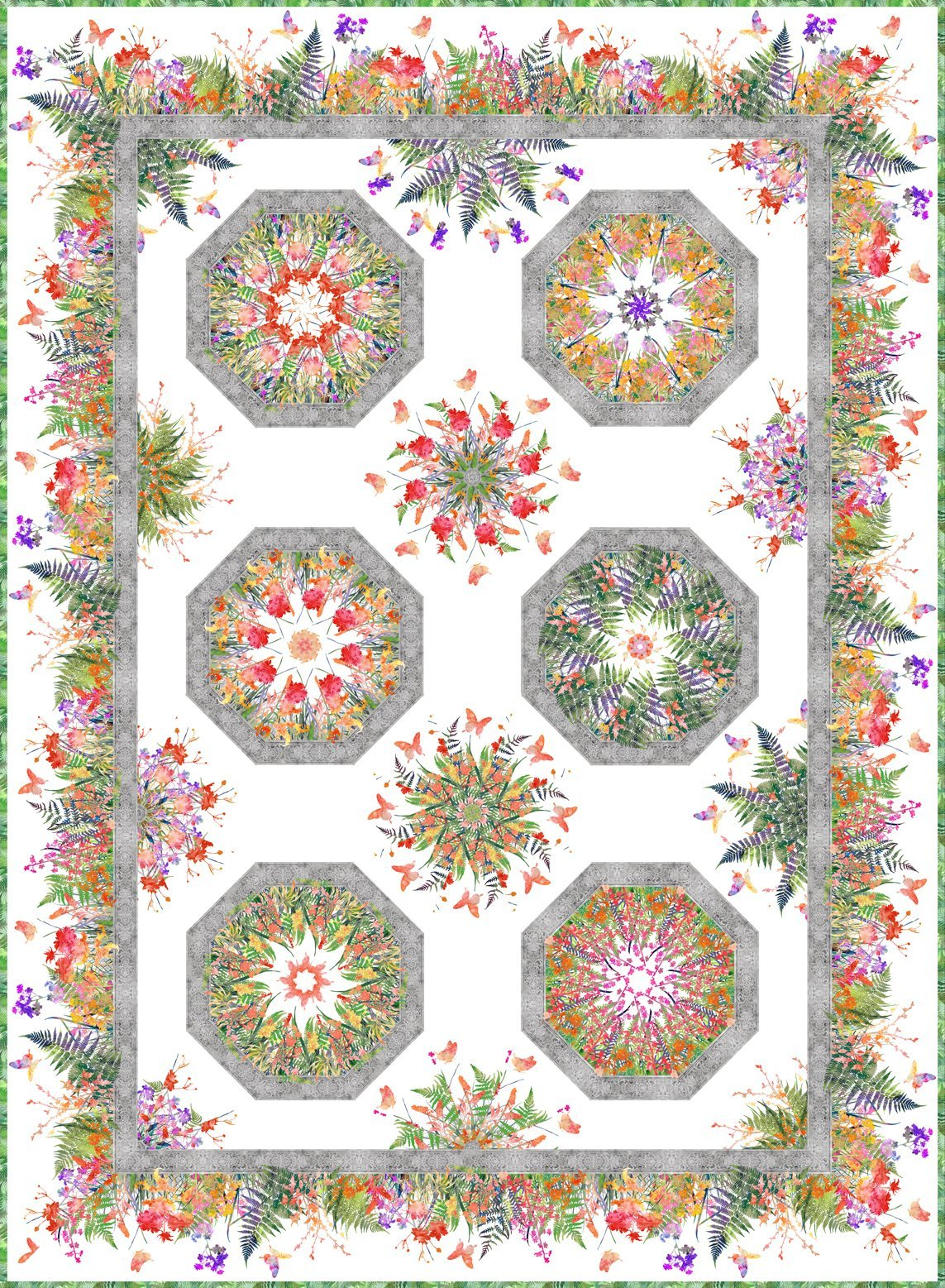 Garden of Dreams Kaleidoscope Quilt Kit