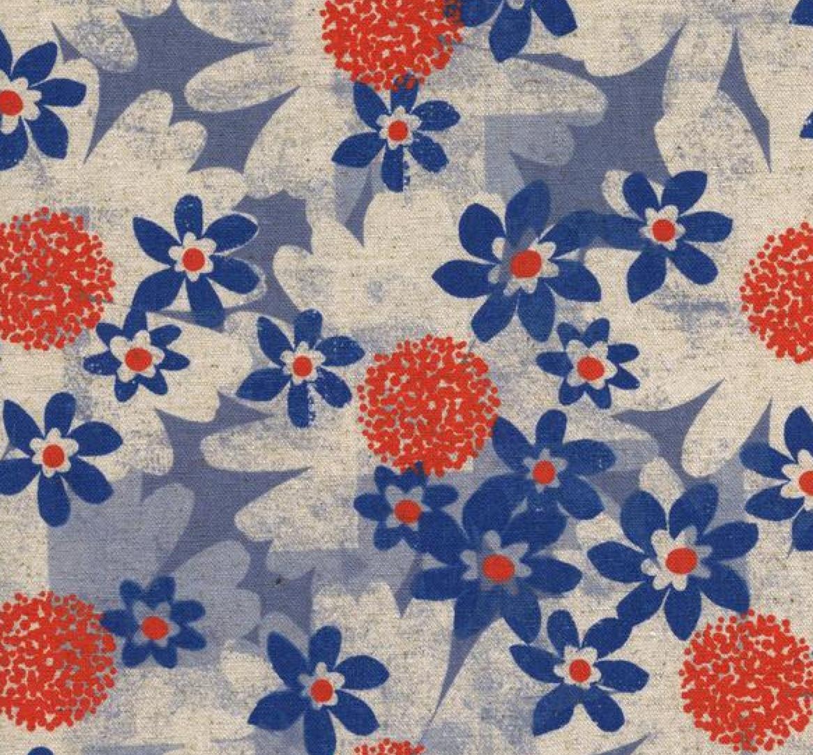 Cotton + Steel Trinket Daisy Fields - Blue #0041 22