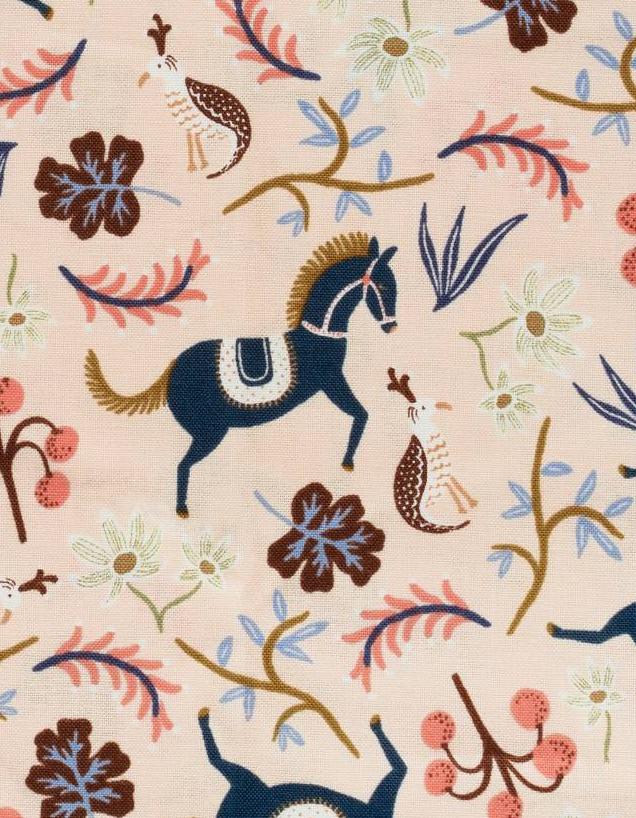 Cotton + Steel Les Fleurs Carousel (Blush) #8002