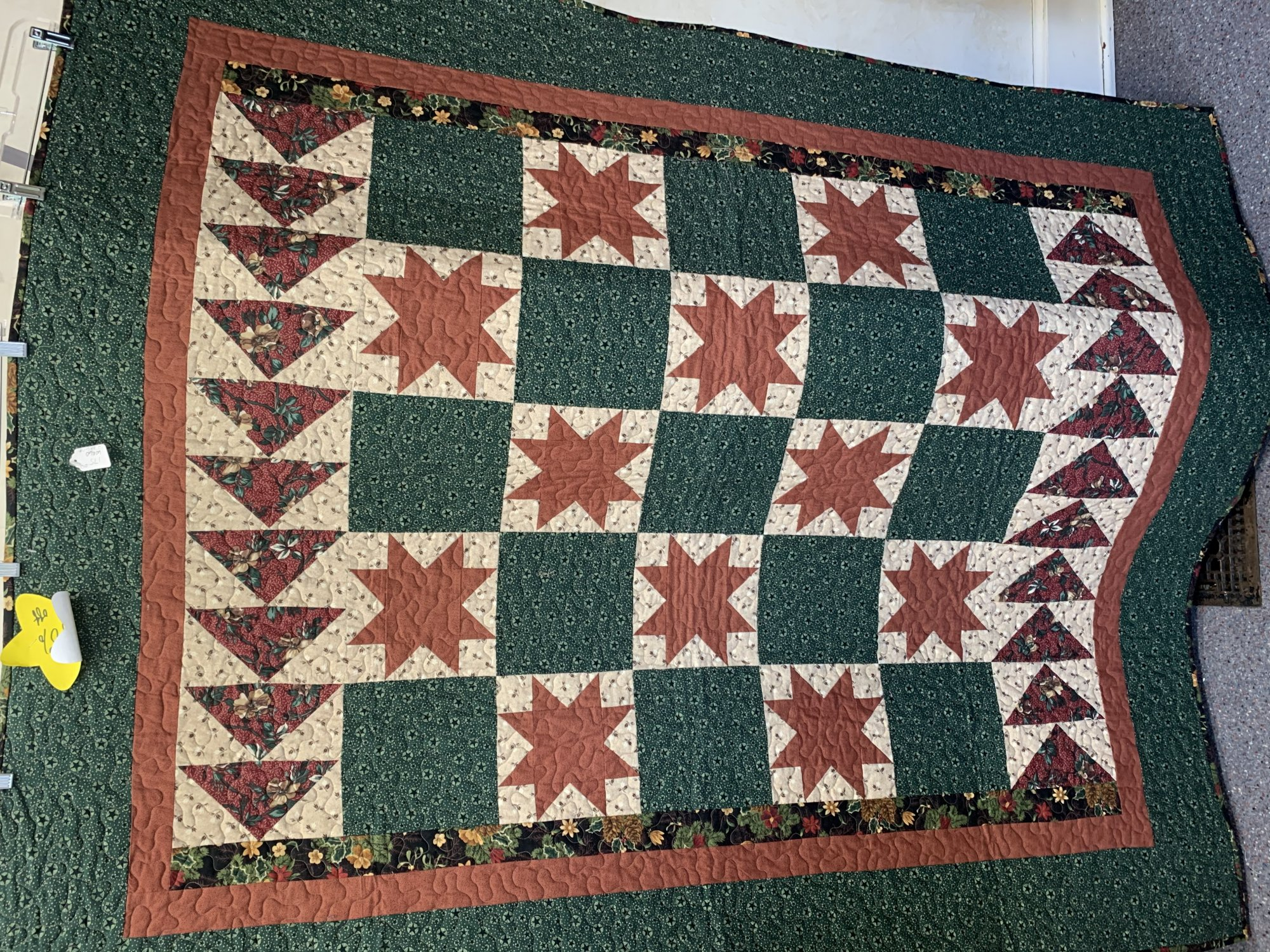 Flying Geese with Stars Quilt