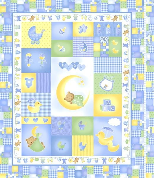 Sleepy Time Panel 140-222P blue panel