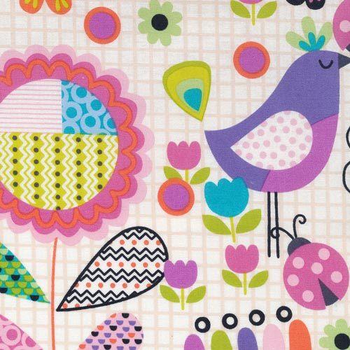 112-28201  tweet Bird Floral on