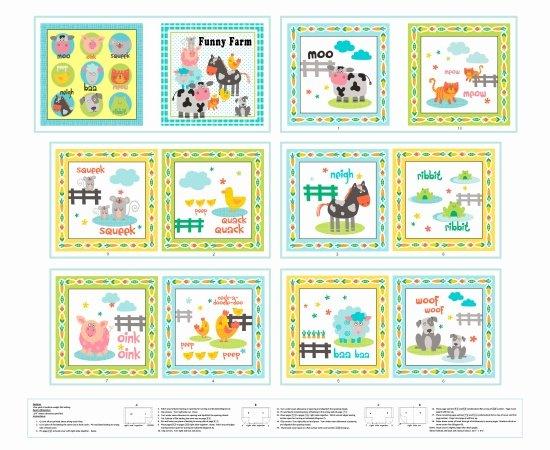 Funny Farm pattern  3400P  col 14 - Book panel
