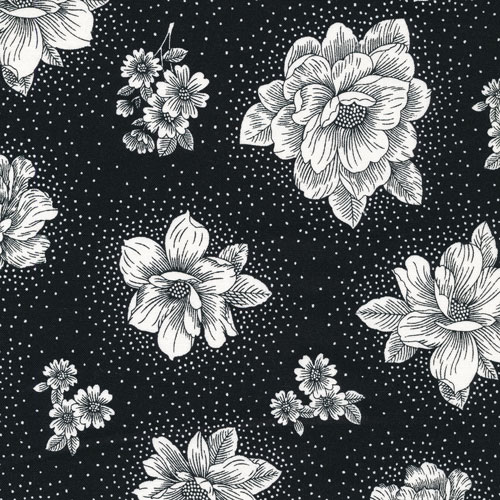 style no 120-12102   Opposites attract flower/black