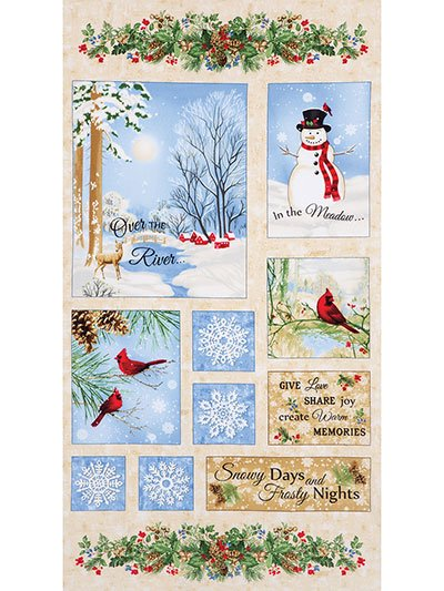 Winter Memories Flannel Panel