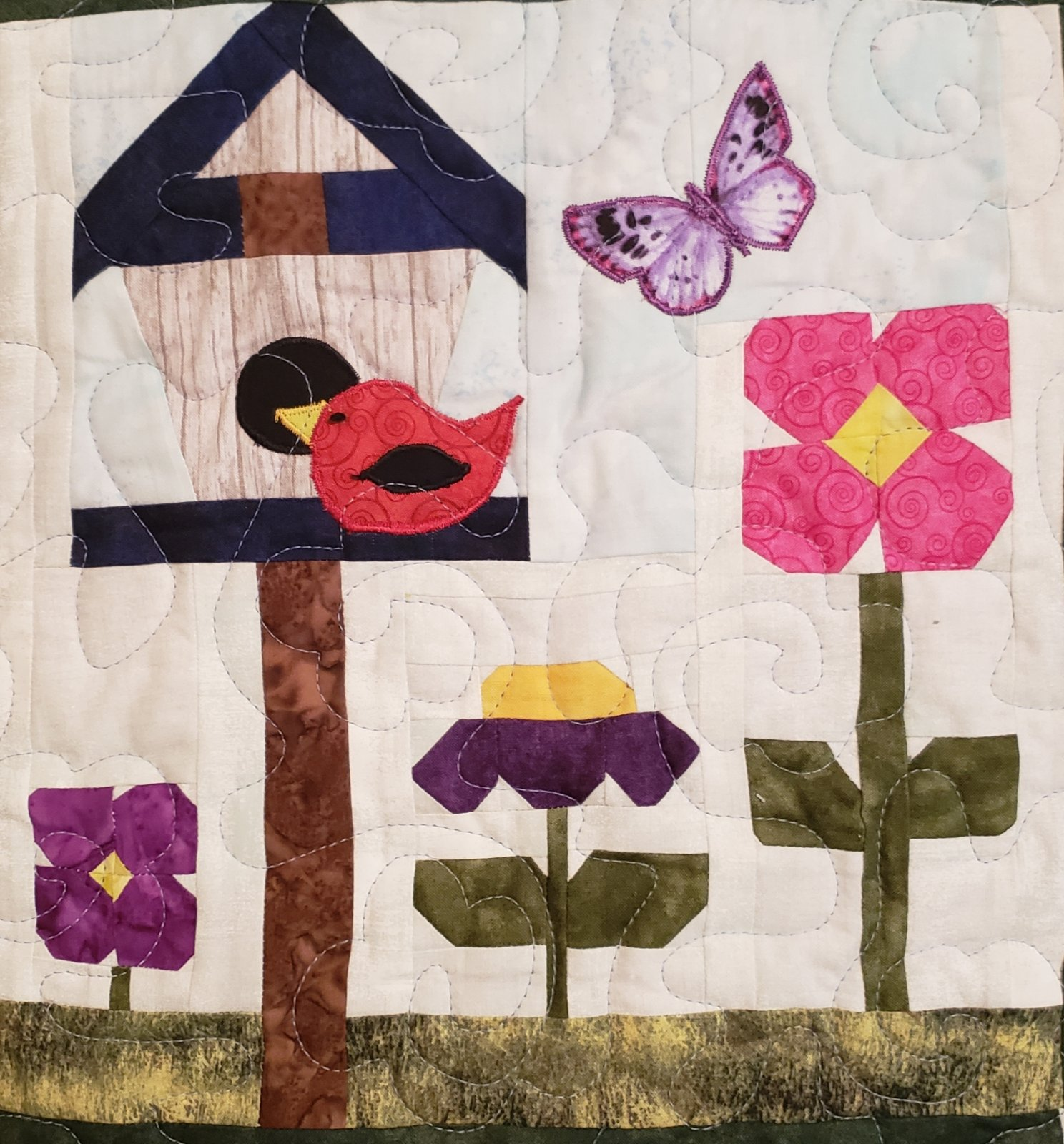 2020 garden party add on: Red Bird, Butterfly, and opening to Birdhouse