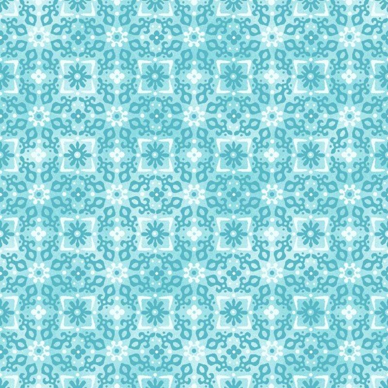 Oasis Enchanted Circles Tonal Floral Turquoise AO6017401
