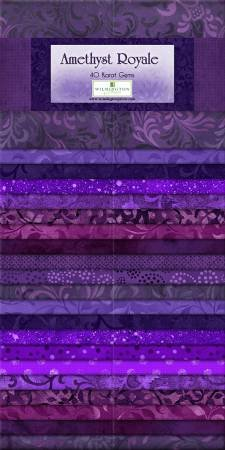 Essential Gems - Amethyst Royale 24- 2 1/2 x 44 strips