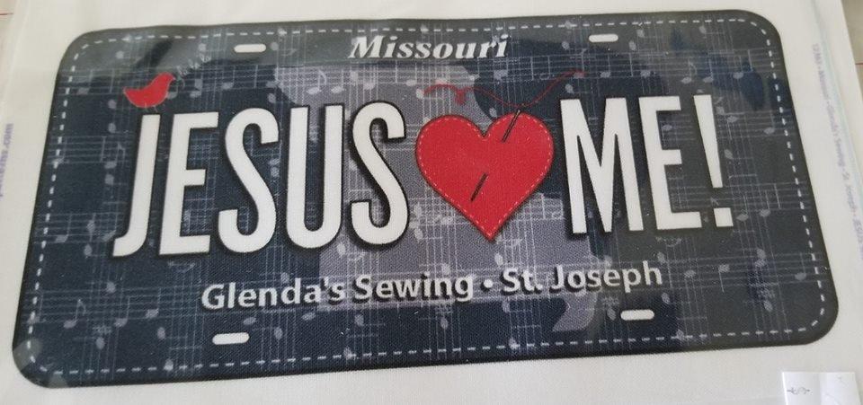 Jesus loves Me license plate