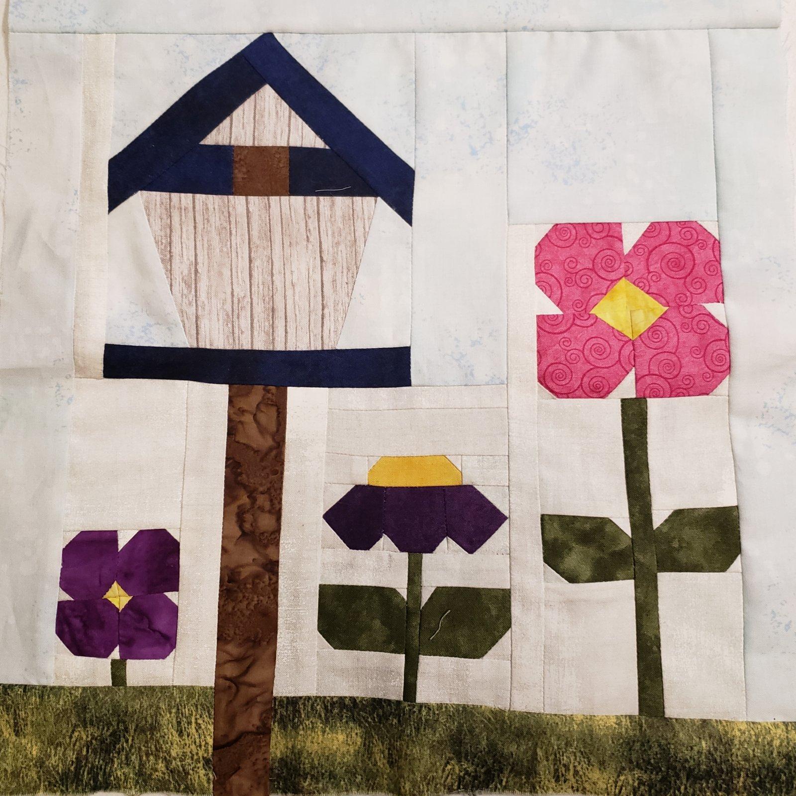 Hwy 36 Quilt Trail - Garden Party Block