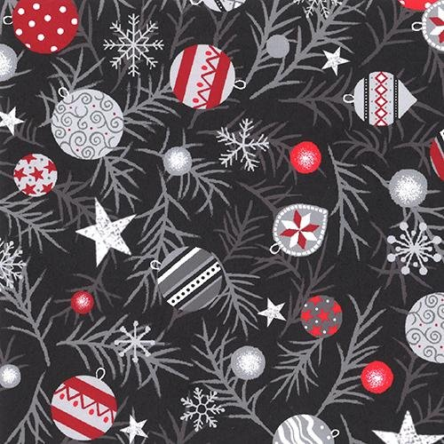 Red + Grey Christmas Grey background with snowman and polar bears - copy - copy