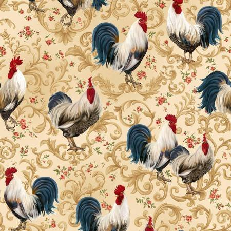 Rooster inn roosters on scroll  style 112-31101