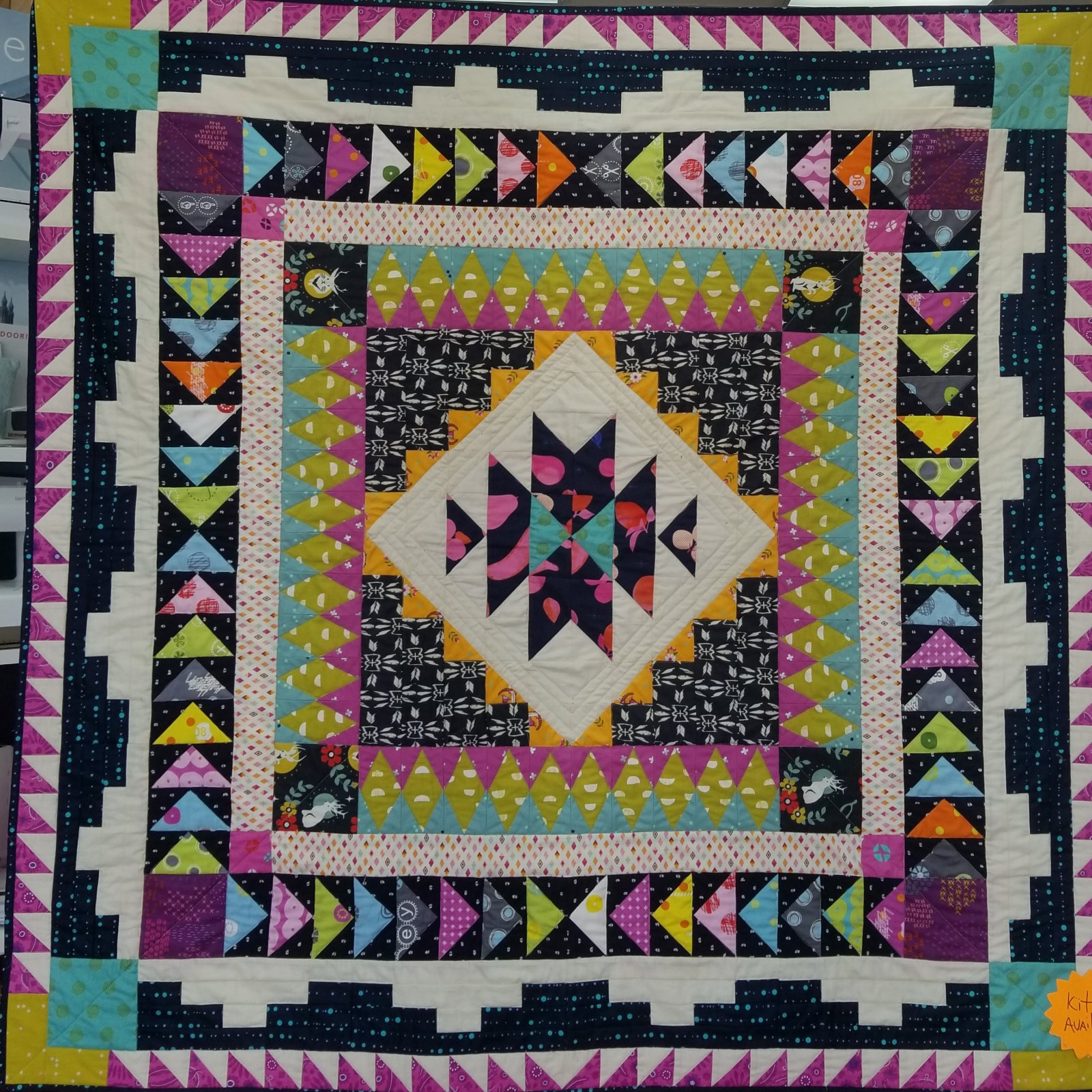 Desert Blooms Medallion Quilt with book