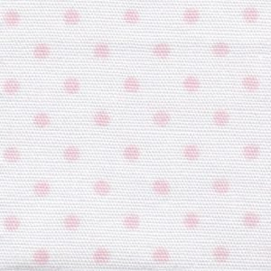 Pink Dots on White Fabric – Print #2163