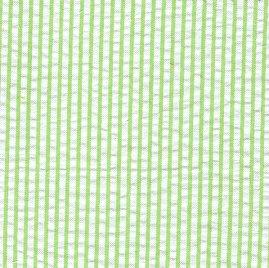 Striped Seersucker Fabric #087 – Bright Lime Green