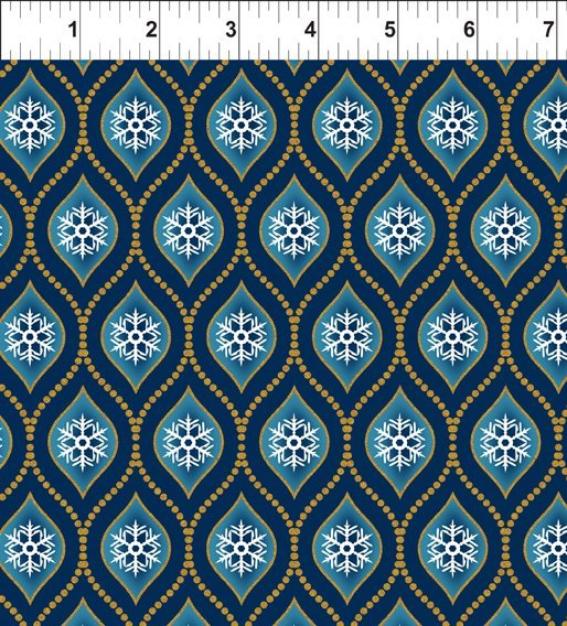 A Celestial Winter-Beaded Ogee-blue