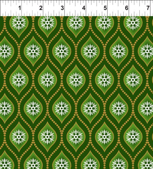 A Celestial Winter-Beaded Ogee-Green