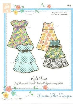 Ayla Rose 146 2yr - 8 yrsby Bonnie Blue Designs