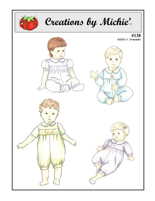Baby jumpsuit 3-24months # 138by Creations by Michie'