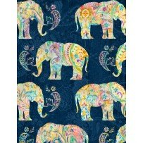 Bohemian Dreams-Elephants-Navy