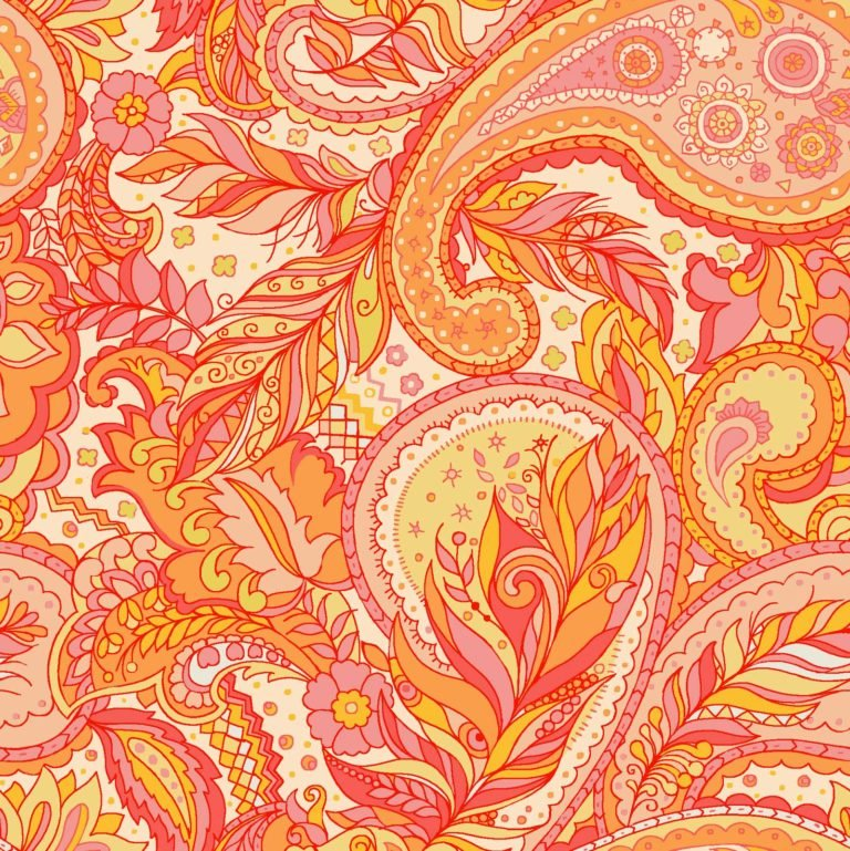 Boho Chic-Paisley Orange