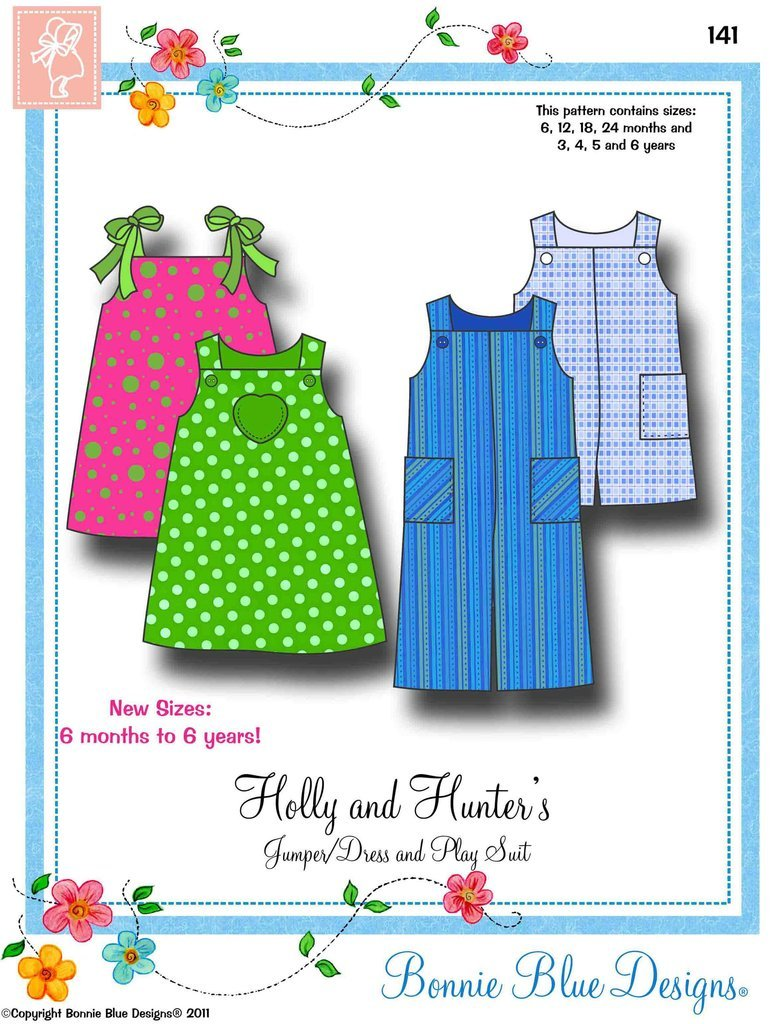 Holly and Hunter's-Jumper/Dress and Play Suit # 1416mos.-6yrsBonnie Blue Designs
